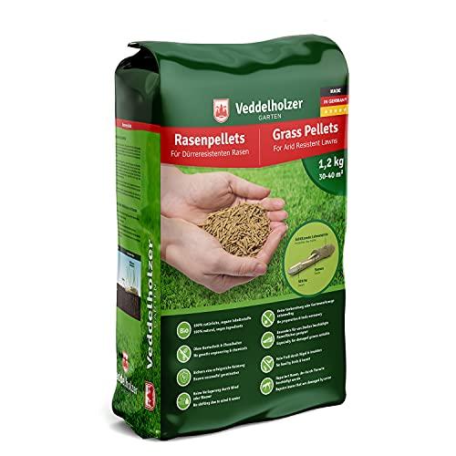 Veddelholzer Garten Rasenpellets Dürreresistenter Rasen - Rasensamen für robusten und widerstandsfähigen Rasen - Grassamen zur Einsaat und Nachsaat - Samen geeignet für Schattenrasen